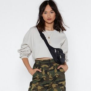 Nasty Gal - Cropped Relaxed Sweatshirt